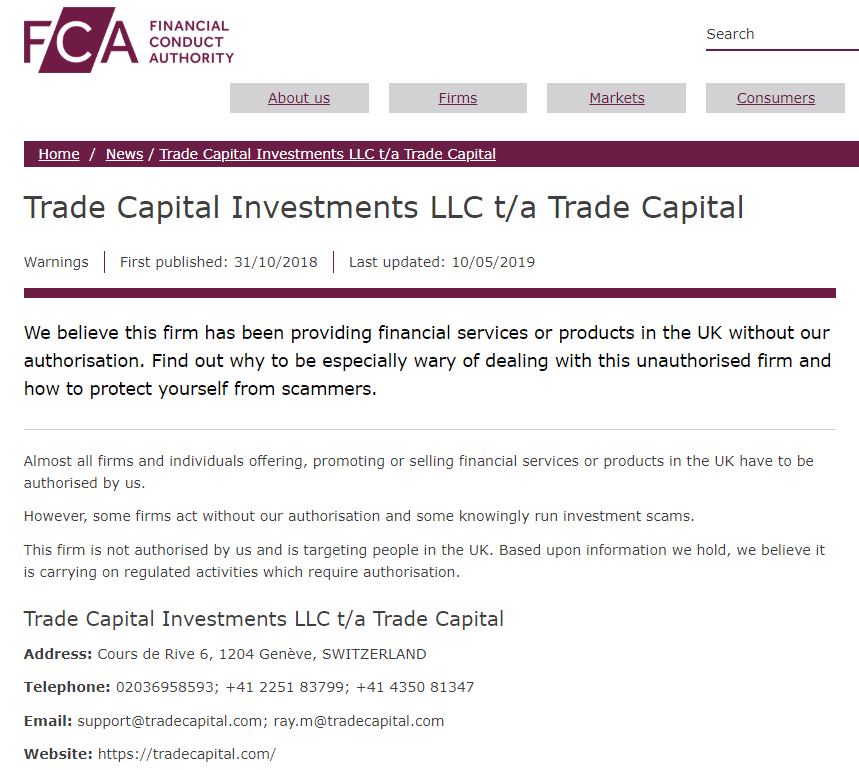 Trade Capital Broker Review